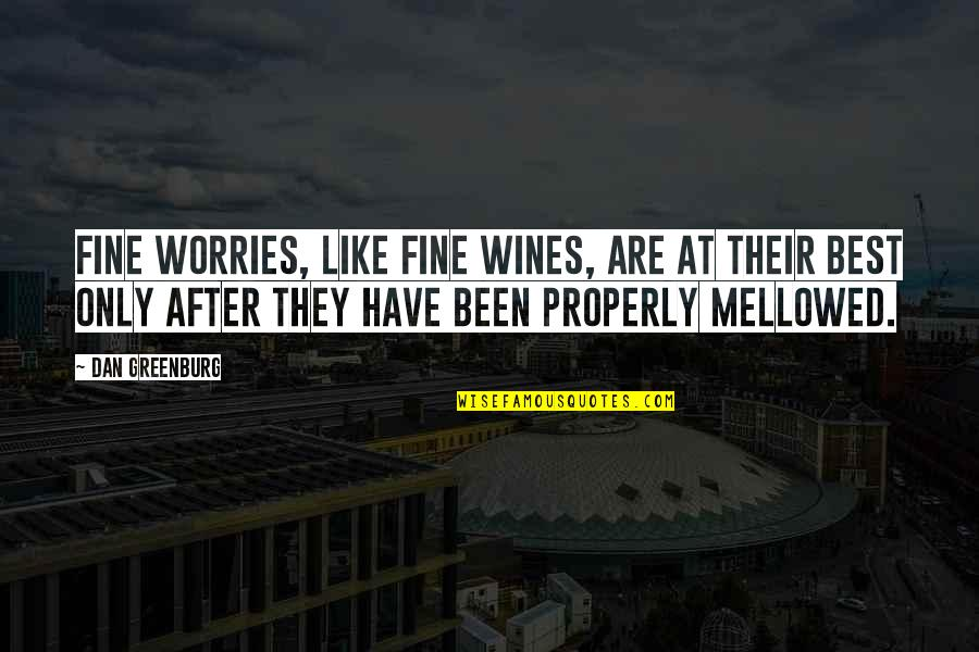 Fine Wines Quotes By Dan Greenburg: Fine worries, like fine wines, are at their