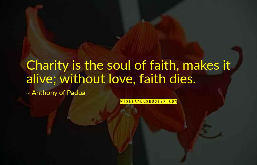 Finishing Touches Quotes By Anthony Of Padua: Charity is the soul of faith, makes it