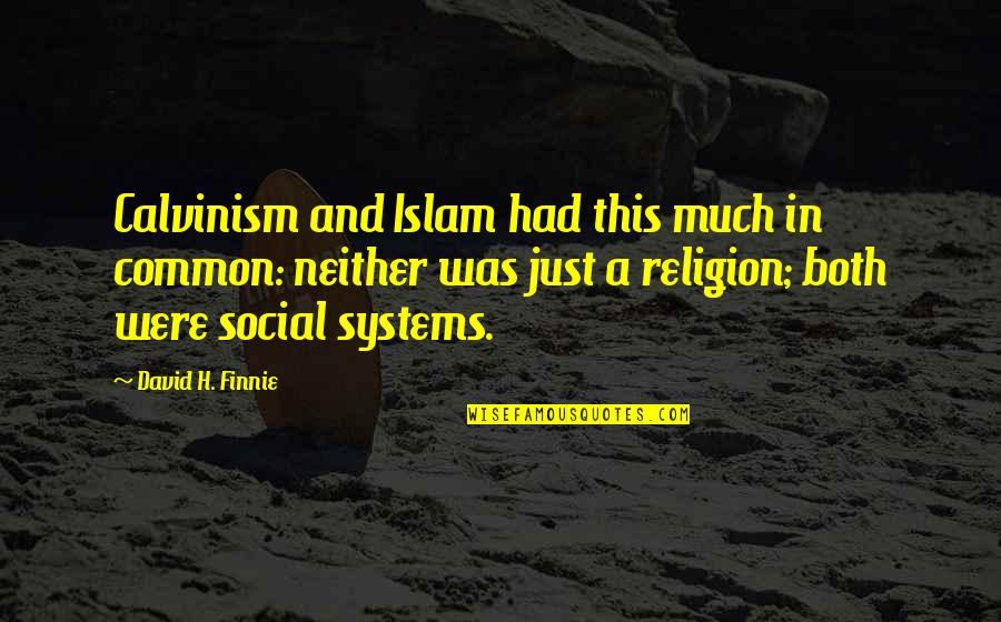 Finnie Quotes By David H. Finnie: Calvinism and Islam had this much in common: