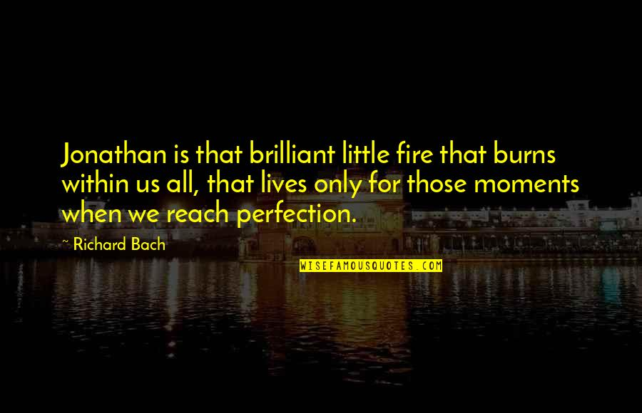 Fire Within Quotes By Richard Bach: Jonathan is that brilliant little fire that burns