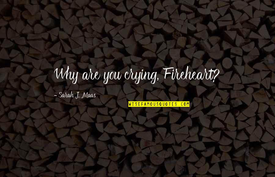 Fireheart Quotes By Sarah J. Maas: Why are you crying, Fireheart?