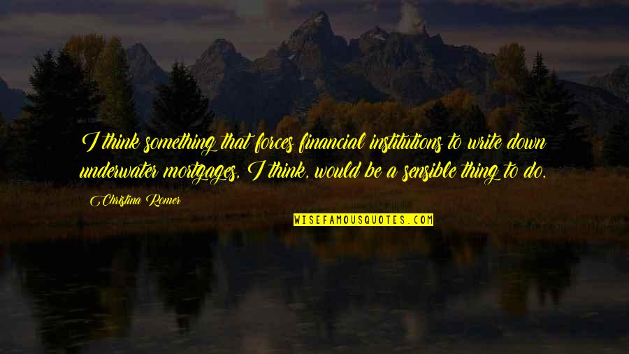 First Born Boy Quotes By Christina Romer: I think something that forces financial institutions to