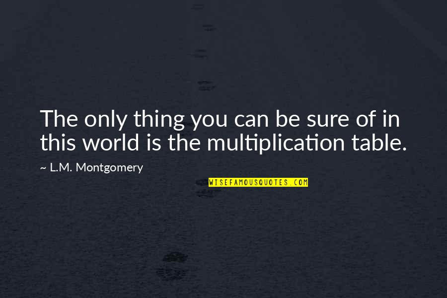 First Day Of School After Summer Holidays Quotes By L.M. Montgomery: The only thing you can be sure of