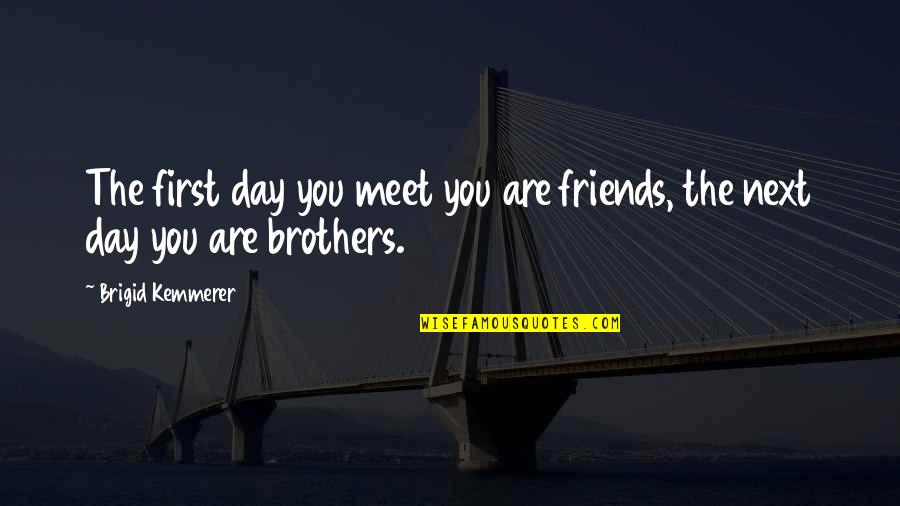 First Meet Friends Quotes By Brigid Kemmerer: The first day you meet you are friends,