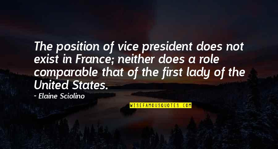 First Position Quotes By Elaine Sciolino: The position of vice president does not exist