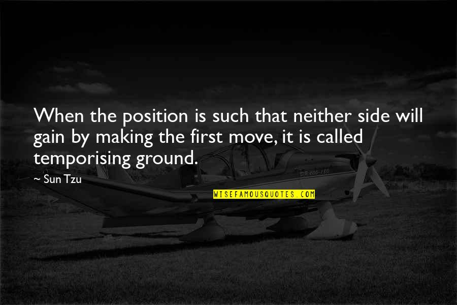 First Position Quotes By Sun Tzu: When the position is such that neither side