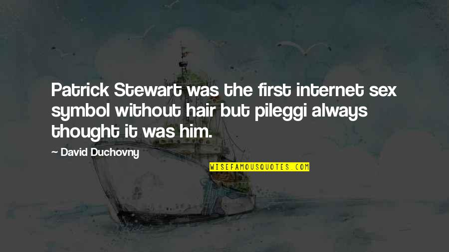 First Sex Quotes By David Duchovny: Patrick Stewart was the first internet sex symbol