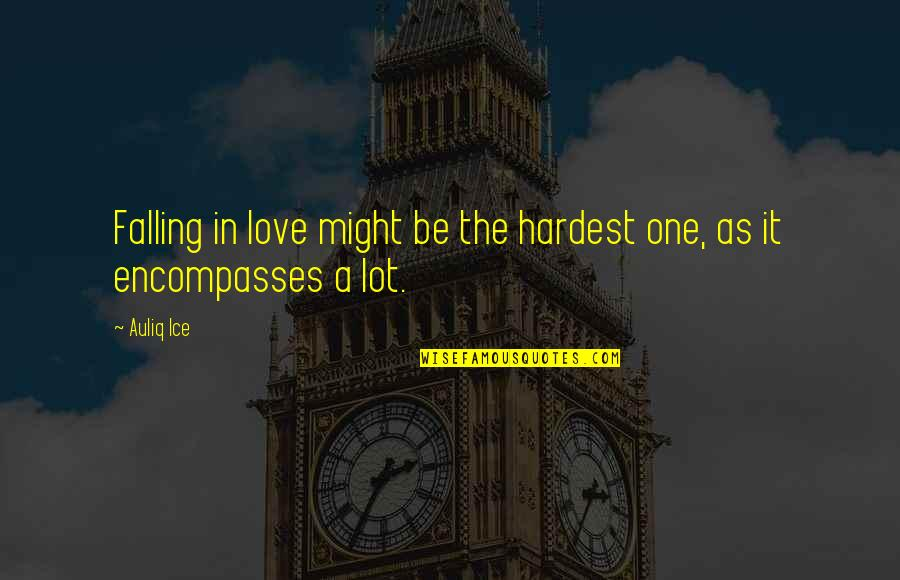 First Sight Love Quotes By Auliq Ice: Falling in love might be the hardest one,