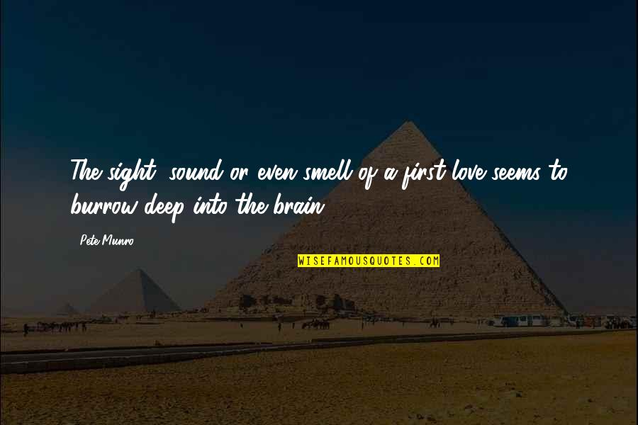 First Sight Love Quotes By Pete Munro: The sight, sound or even smell of a