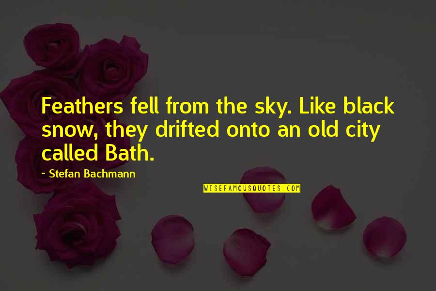 First Snow Quotes By Stefan Bachmann: Feathers fell from the sky. Like black snow,