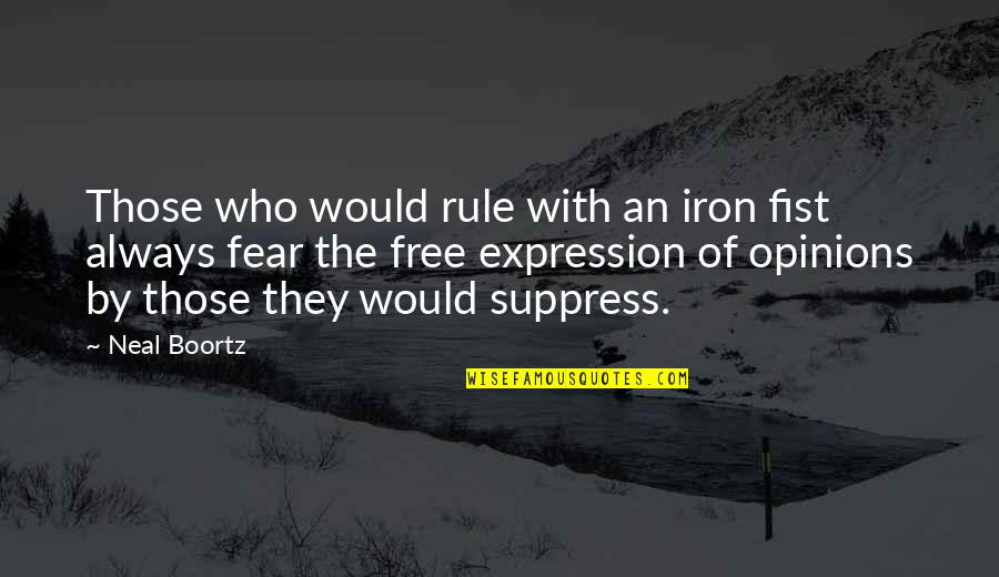 Fist Quotes By Neal Boortz: Those who would rule with an iron fist