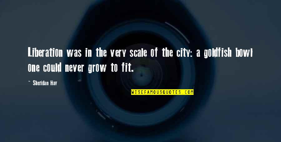 Fit Life Quotes By Sheridan Hay: Liberation was in the very scale of the