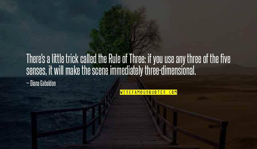 Five Senses Quotes By Diana Gabaldon: There's a little trick called the Rule of
