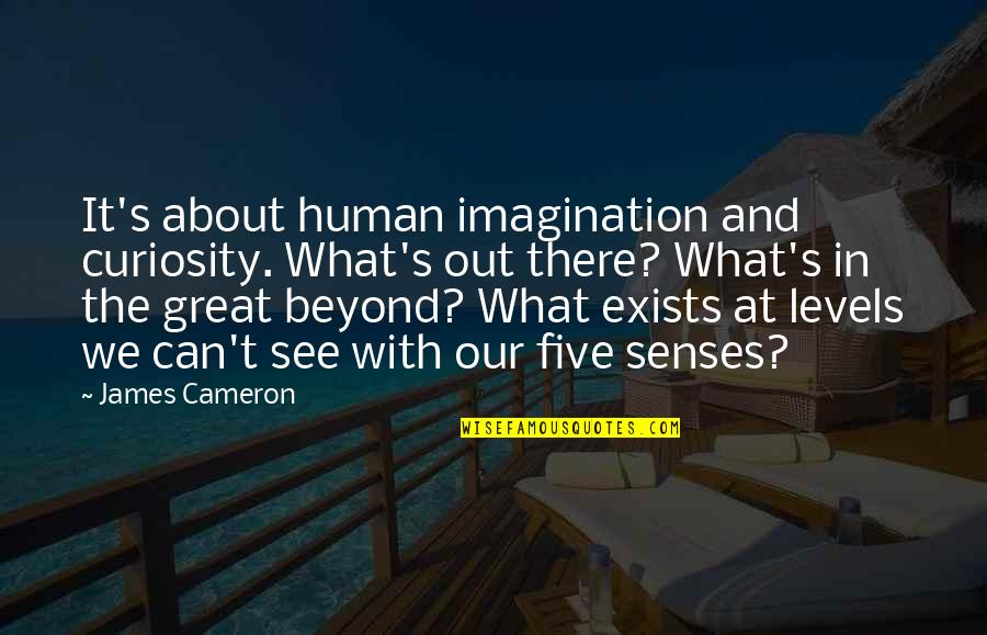 Five Senses Quotes By James Cameron: It's about human imagination and curiosity. What's out