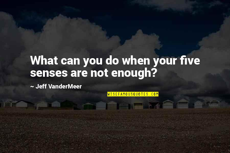 Five Senses Quotes By Jeff VanderMeer: What can you do when your five senses