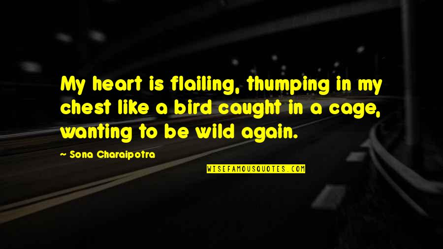 Flailing Quotes By Sona Charaipotra: My heart is flailing, thumping in my chest