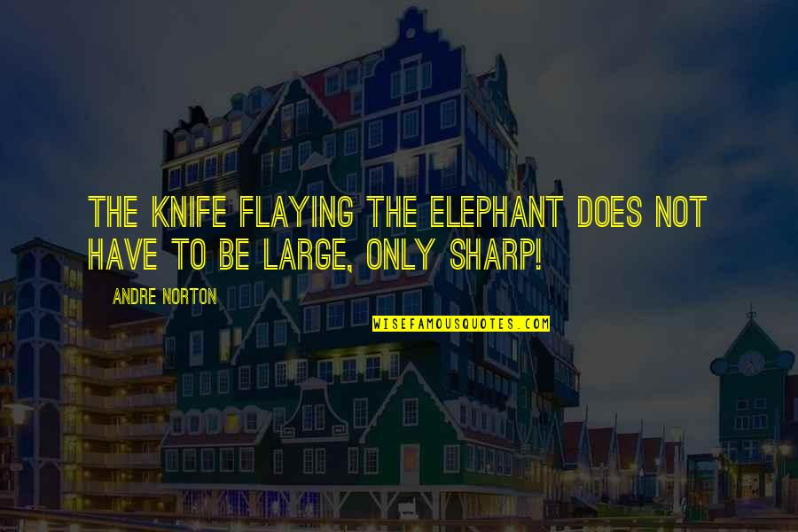 Flaying Quotes By Andre Norton: The knife flaying the elephant does not have