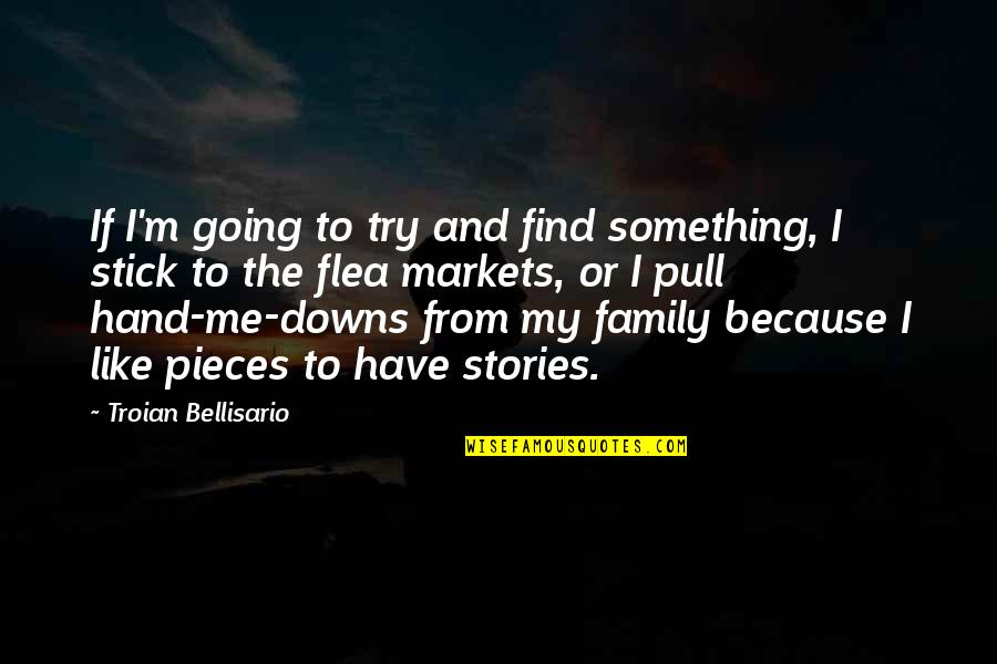 Flea Markets Quotes By Troian Bellisario: If I'm going to try and find something,