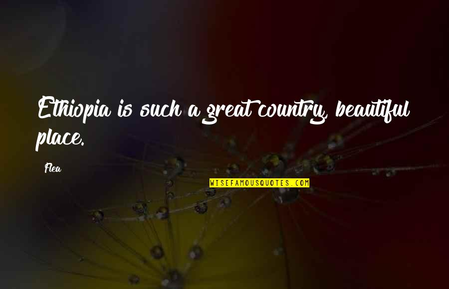 Flea Quotes By Flea: Ethiopia is such a great country, beautiful place.