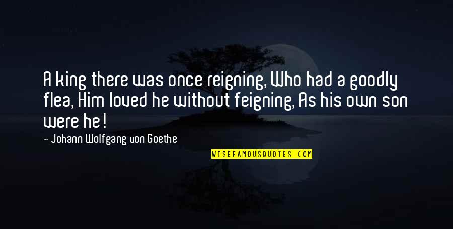 Flea Quotes By Johann Wolfgang Von Goethe: A king there was once reigning, Who had