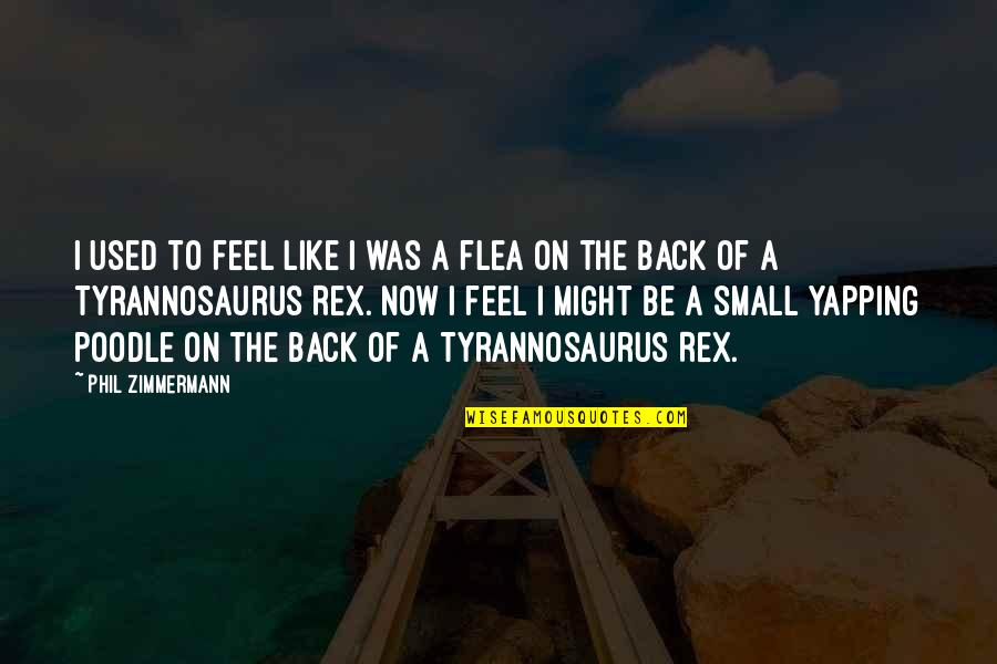 Flea Quotes By Phil Zimmermann: I used to feel like I was a