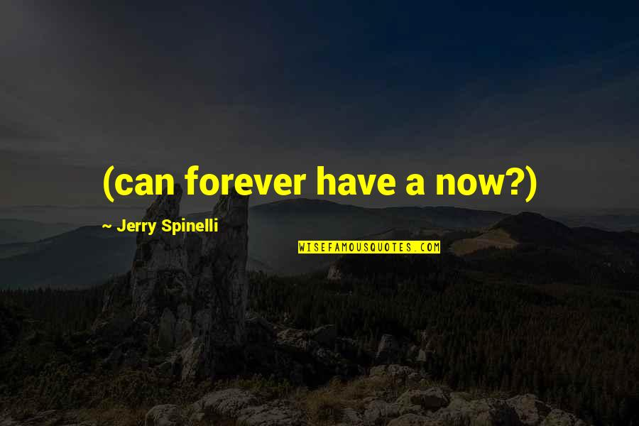 Fleet Foxes Quotes By Jerry Spinelli: (can forever have a now?)