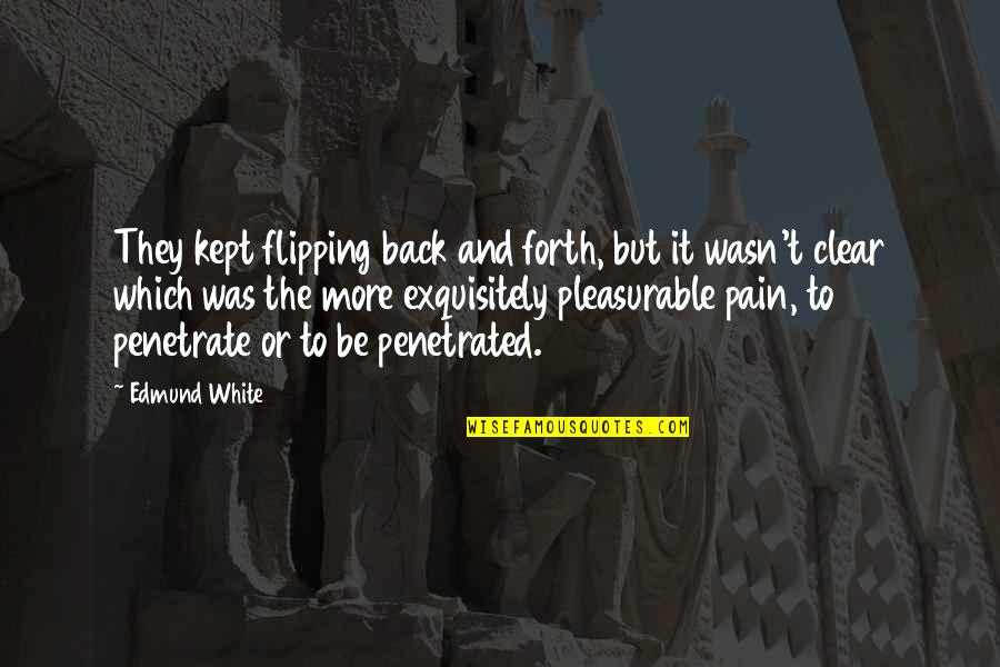 Flipping Out Quotes By Edmund White: They kept flipping back and forth, but it