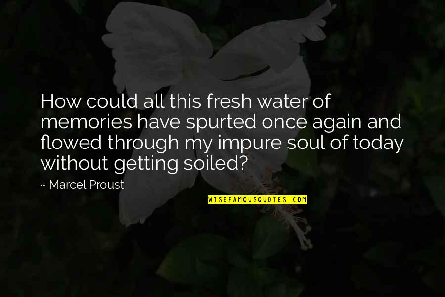 Flowed Quotes By Marcel Proust: How could all this fresh water of memories
