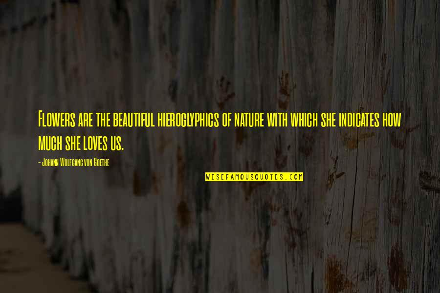 Flower Garden Quotes By Johann Wolfgang Von Goethe: Flowers are the beautiful hieroglyphics of nature with