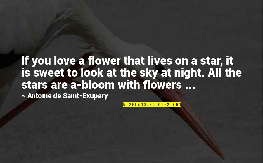 Flowers Bloom Love Quotes By Antoine De Saint-Exupery: If you love a flower that lives on