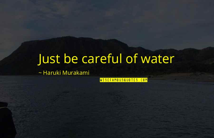 Fluid Dynamics Quotes By Haruki Murakami: Just be careful of water