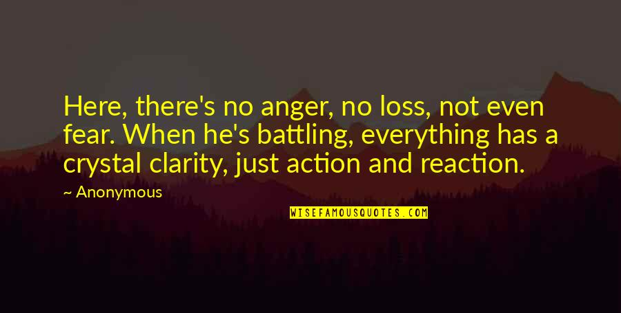 Focus On The Here And Now Quotes By Anonymous: Here, there's no anger, no loss, not even