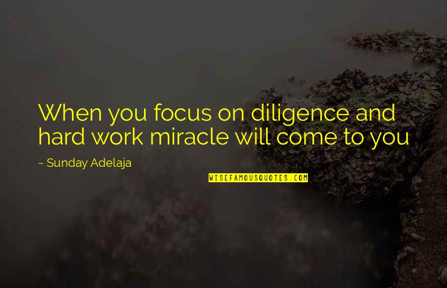 Focus On Work Quotes By Sunday Adelaja: When you focus on diligence and hard work