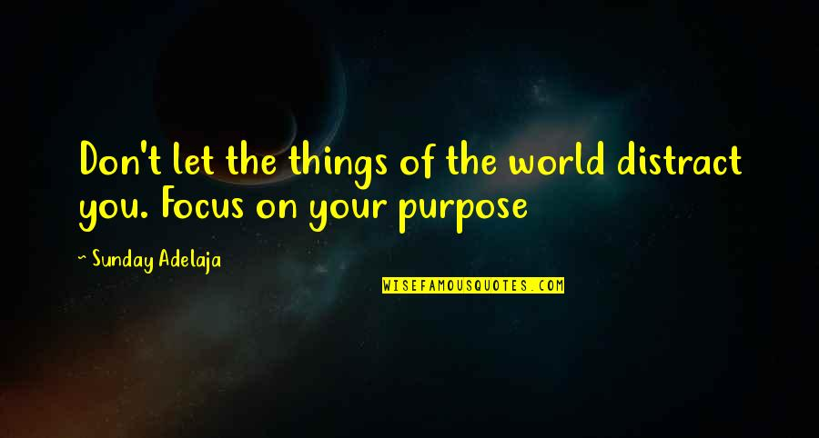 Focus On Work Quotes By Sunday Adelaja: Don't let the things of the world distract