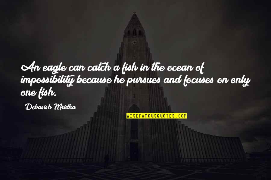Focuses Quotes By Debasish Mridha: An eagle can catch a fish in the