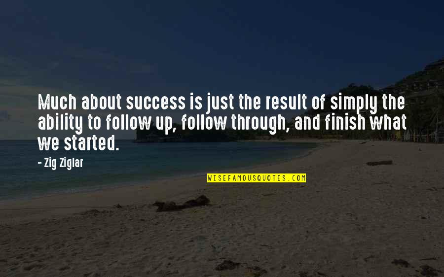Follow Through Quotes By Zig Ziglar: Much about success is just the result of