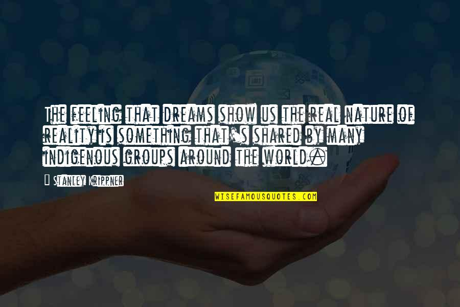 Food And Entertaining Quotes By Stanley Krippner: The feeling that dreams show us the real