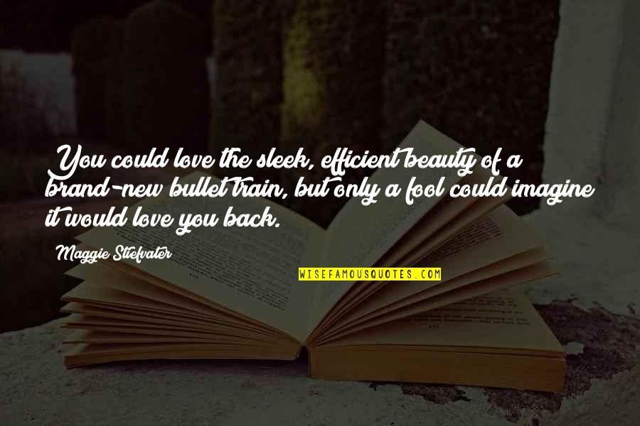 Fool Love Quotes By Maggie Stiefvater: You could love the sleek, efficient beauty of