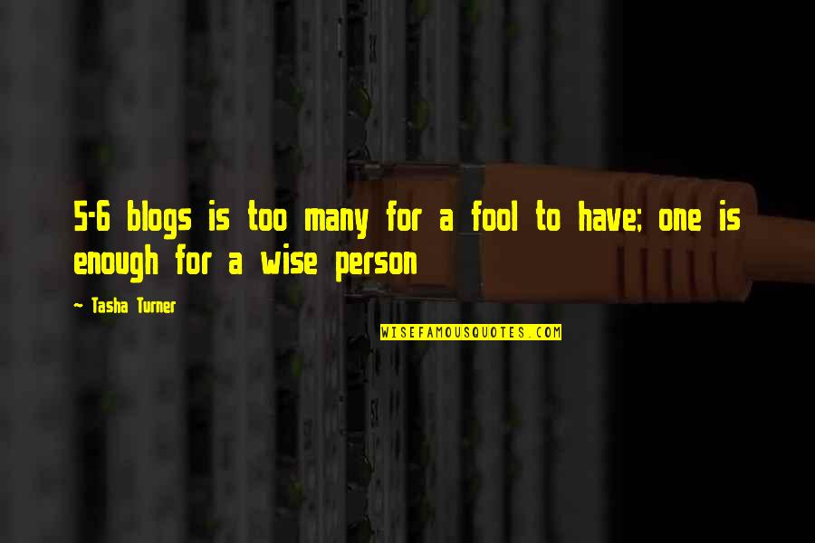 Fool Person Quotes By Tasha Turner: 5-6 blogs is too many for a fool