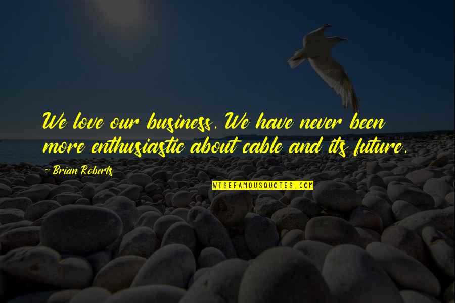 Fooling Around With Boyfriend Quotes By Brian Roberts: We love our business. We have never been