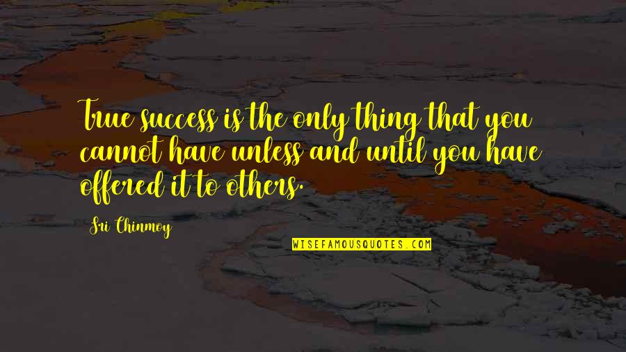 Foolishness In Romeo And Juliet Quotes By Sri Chinmoy: True success is the only thing that you