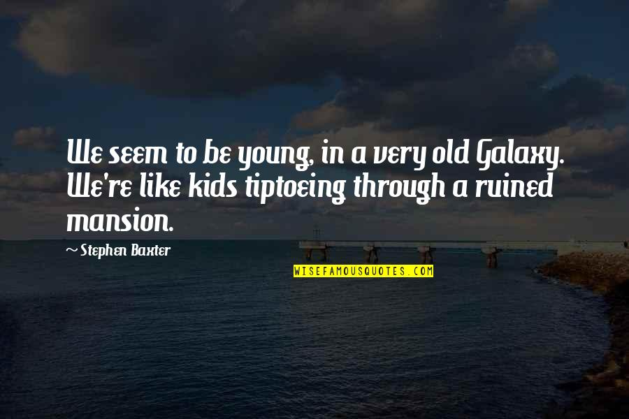 Fools And Liars Quotes By Stephen Baxter: We seem to be young, in a very