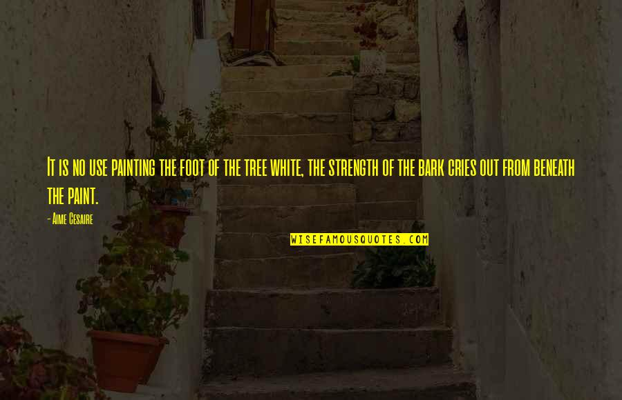 Foot Quotes By Aime Cesaire: It is no use painting the foot of