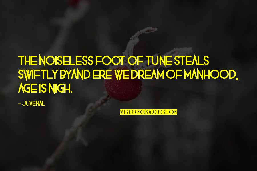 Foot Quotes By Juvenal: The noiseless foot of Tune steals swiftly byAnd