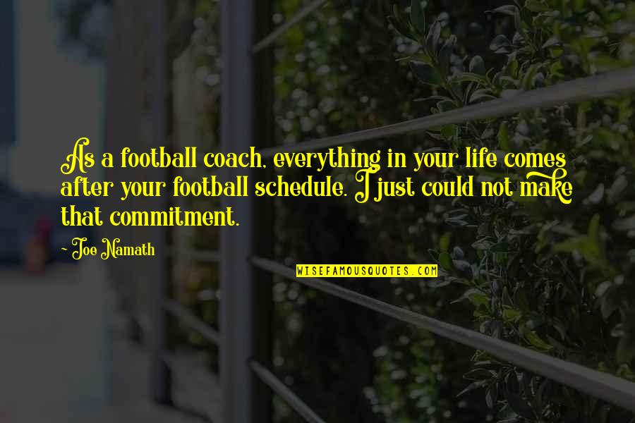 Football Coach Quotes By Joe Namath: As a football coach, everything in your life