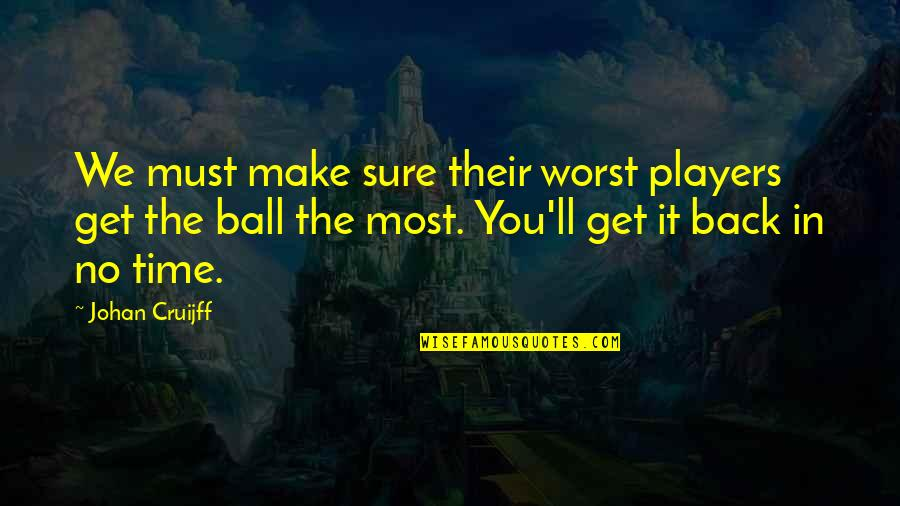 Football Players Quotes By Johan Cruijff: We must make sure their worst players get