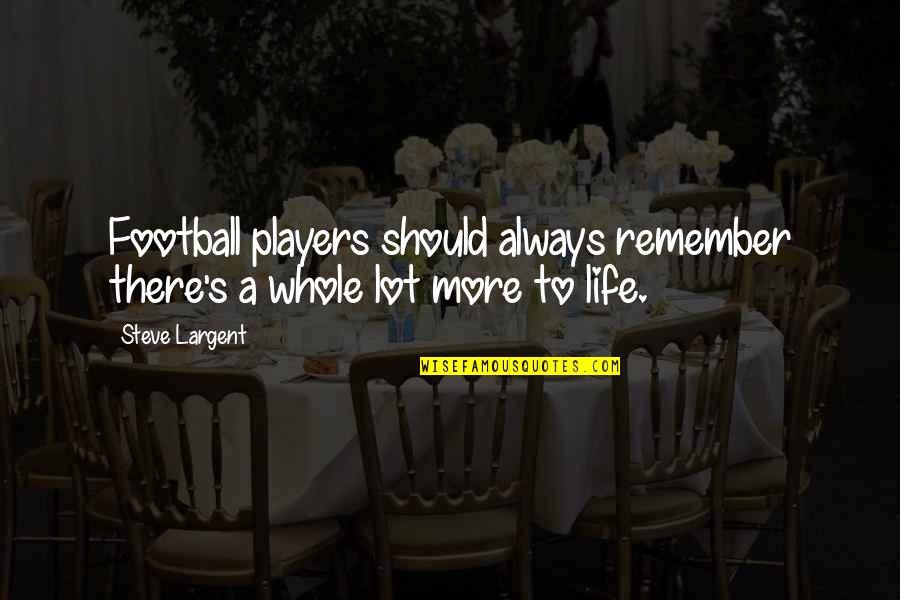 Football Players Quotes By Steve Largent: Football players should always remember there's a whole