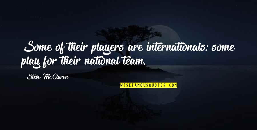 Football Players Quotes By Steve McClaren: Some of their players are internationals; some play