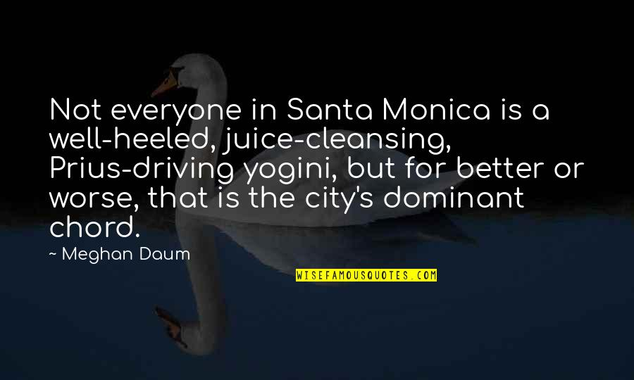 For Better Or Worse Quotes By Meghan Daum: Not everyone in Santa Monica is a well-heeled,