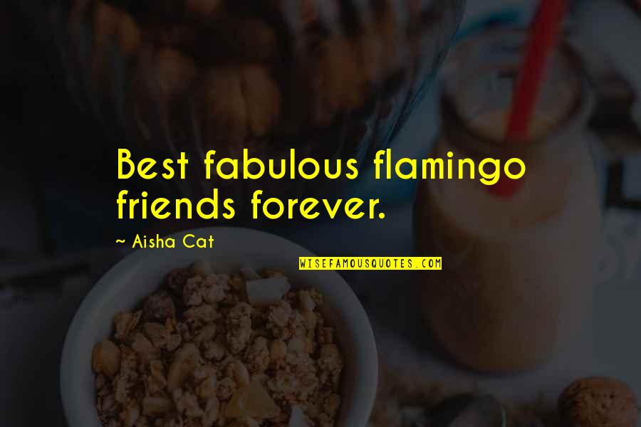 Forever Best Friends Quotes By Aisha Cat: Best fabulous flamingo friends forever.